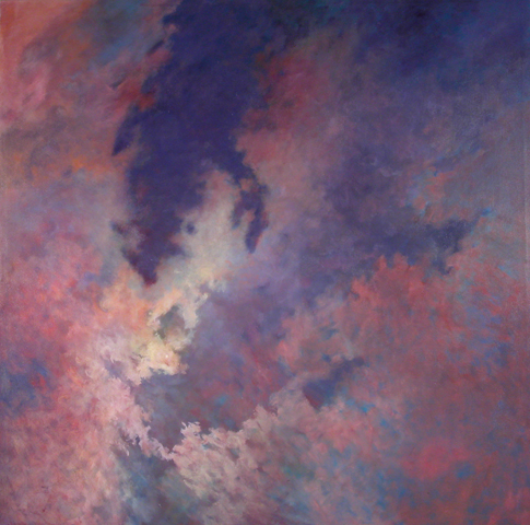 DISTANT MOON I, 2002. Oil. 66 x 66 in.