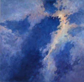 DISTANT MOON II, 2002. Oil. 66 x 66 in.
