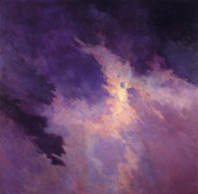 DISTANT MOON III, 2002. Oil. 66 x 66 in.