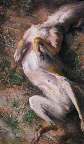 HYSTERIA, 2001. Oil. 32 x 19 in.