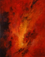 RED VISION, 2002. Oil. 54 x 42 in. Collection of Atlanta Gas Light, Inc.