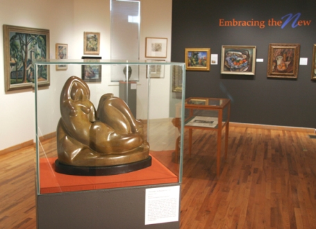 EMBRACING THE NEW: MODERNISM'S IMPACT ON WOODSTOCK ARTISTS (2013) featuring work by Alexander Archipenko, Konrad Cramer, Andrew Dasburg, Henry Lee McFee, and Charles Rosen.