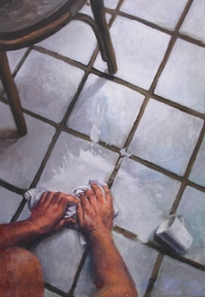 SPILT MILK, 2003. Oil. 28-1/2 x 20 in.