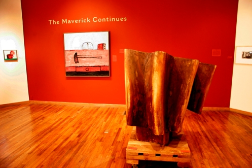 THE MAVERICK CONTINUES (2006) featuring work by Philip Guston and Raoul Hague.